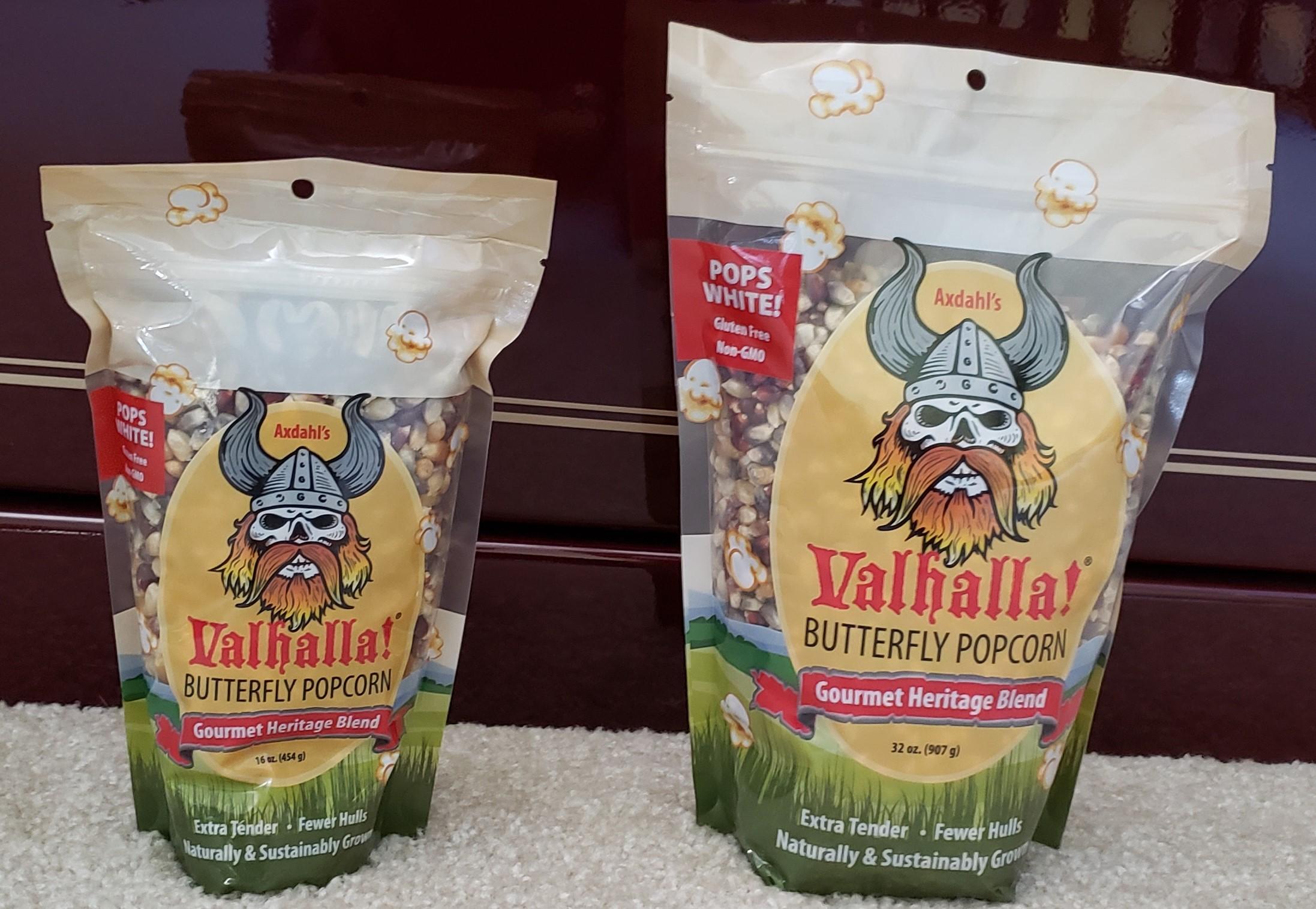Valhalla! Gourmet Popcorn front